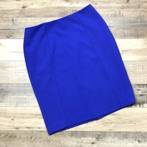 HALOGEN | Electric Blue Midi Pencil Skirt 10 Chic